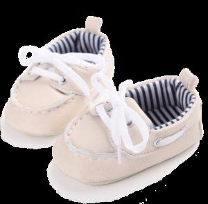 Beige babyschoenen met strik